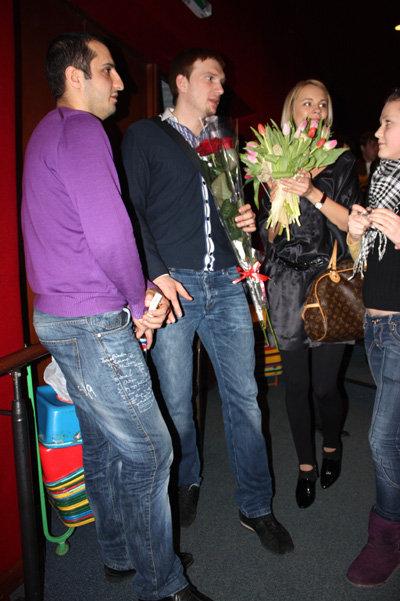 Арарат Кещян, Андрей Бурковский с супругой Ольгой