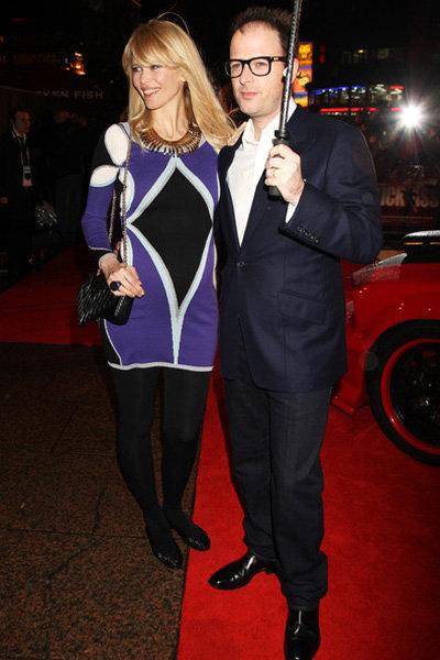 Клаудиа Шиффер с мужем Мэттью Воном на премьере его нового фильма Пипец