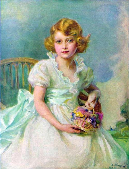 Портрет юной Элизабет Виндзор, будущей королевы Великобритании, кисти Филиппа Алексиса де Ласло. 1933 г. ru.wikipedia.org