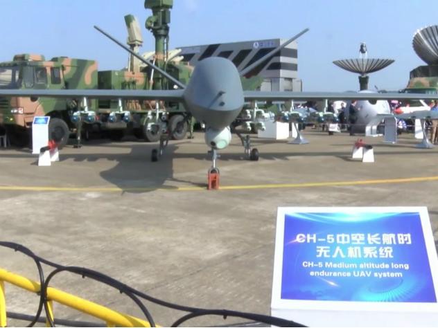 Серийный образец китайского дрона CH-5 совершил тестовый полет