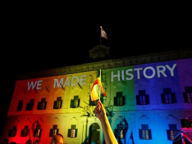 НаМальте легализовали однополые браки