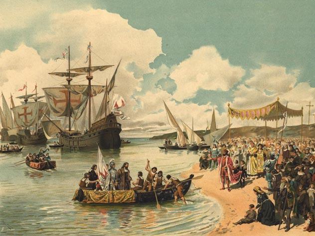 Картина «Отъезд Васко да Гамы в Индию в 1497 году