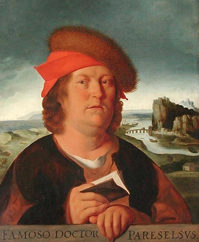 Алхимик Парацельс одним из первых начал изучать влияние зеркал на психику людей. wikipedia