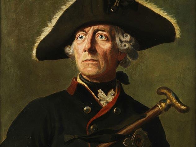 Фридрих Великий. Портрет работы Вильгельма Кампхаузена
