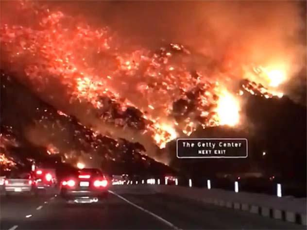Пожары вКалифорнии сравнили спреисподней— Дорога вад