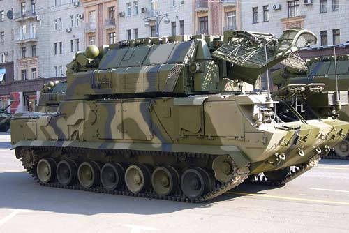 Боевая машина «Тор-М2У» на репетиции Парада Победы в Москве, 2008 г. Источник: wikipedia.org