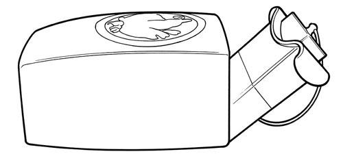 Контейнер воина для хранения мэцубуси. Источник: wikipedia.org