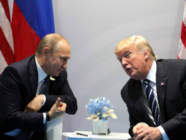 Встреча Путина и Трампа на полях саммита G20, июль 2017 г.