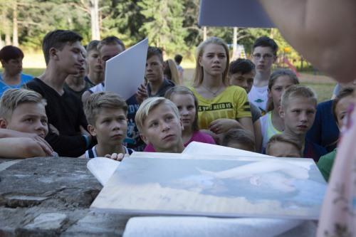 Встреча с воспитанниками летнего лагеря для трудных детей