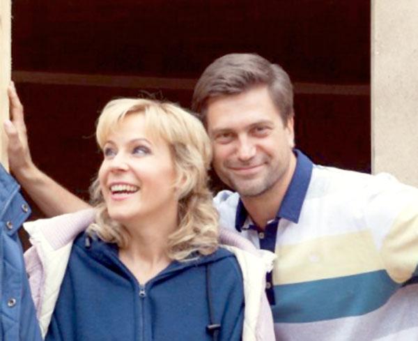 Мария Куликова и Виталий Кудрявцев на съемочной площадке «Склифа»