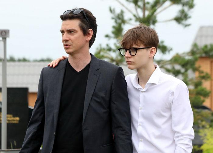 Илья Бледный с сыном